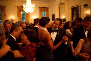 2009: Barack Obama and Michelle Obama dance