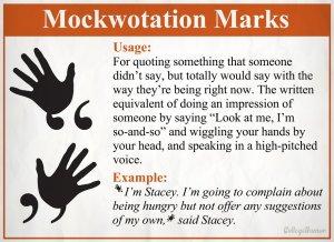 Mockwotation marks